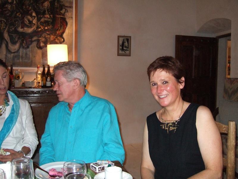 Karin avec le journaliste et écrivain anglais Paul Eddy, décédé en 2009