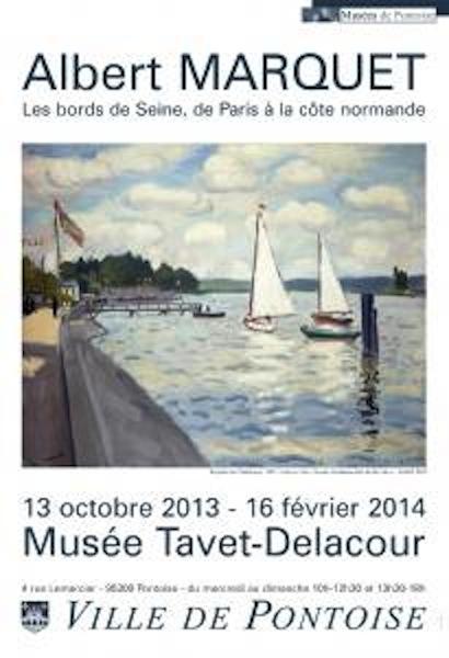 Affiche de l'exposition Albert Marquet à Pontoise
