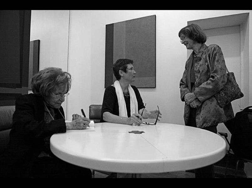 avec Dominique Desanti et Béatrice Casadesus, artiste de G & M