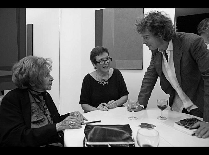avec Dominique Desanti et le violoniste Jean-Philippe Audoli