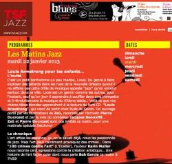 Annonce de l'émission coup de cOur de Bob Garcia sur TSF Jazz