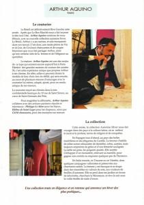 Document de presse du défilé de mode d'Arthur Aquino