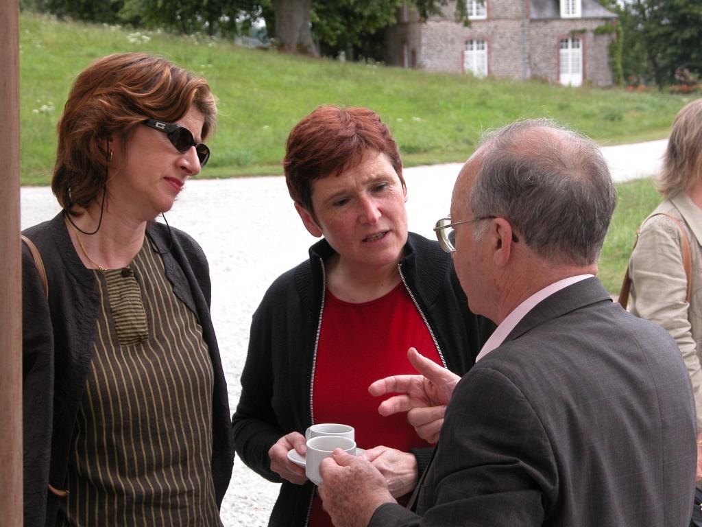avec Hazel Rowley et Michel Rybalka (©Heiner Wittmann)