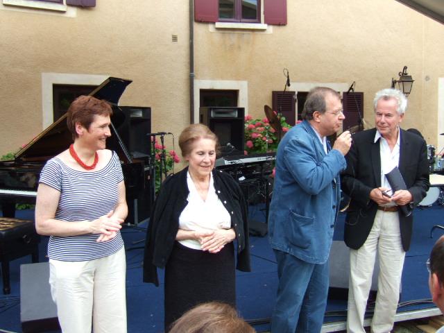 Avec Madeleine Malraux, Bernard Vasseur et François Marthouret
