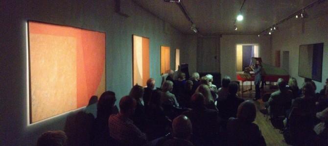 Récital pour le finissage de l'exposition Antoine de Margerie
