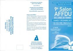 Carton d'invitation au 9ème Salon des Femmes (AFFDU)