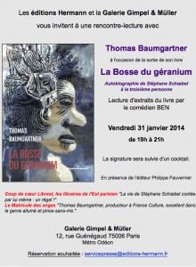 Invitation à une rencontre - lecture avec Thomas Baumgartner