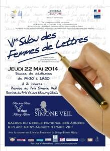 Affiche du 6ème salon des Femmes de lettres
